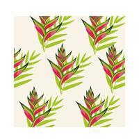 Heliconias pflanzt tropischen Musterhintergrund vektor