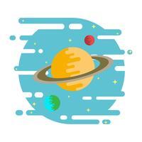 Ringe von Saturn-Vektor-Illustration vektor