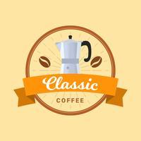 Flacher Weinlese-Kaffee-Ausweis-Vektor vektor