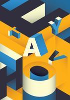 Isometrische Typografie