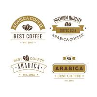 Kaffe Badges Vector Set