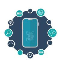 isoliertes Smartphone-Vektor-Design