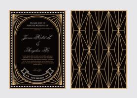 Art Deco Hochzeitskarte