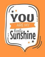Süßes kleines Sonnenschein-Wand-Kunst-Plakat vektor