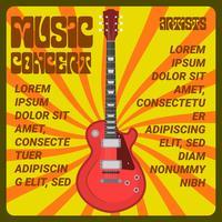 Flacher psychedelischer Konzert-Plakat-Vektor