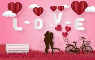 glad Alla hjärtans dag firande banner vektor