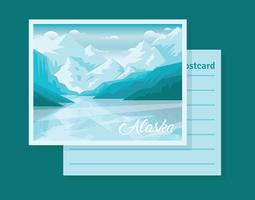 Postkarte von Alaska-Illustration