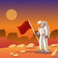 Einsamer Marsmensch vektor