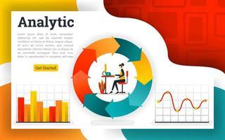 ekonomiska cirkulationsdiagram och flödesschemanrapporter vektor