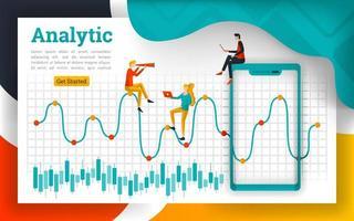 analys för finans- och råvarumarknader vektor