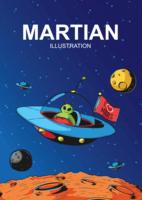 martian illustration vektor