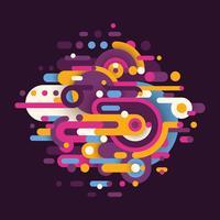Abstracts auf der ganzen Welt vektor