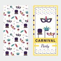 Maske Karneval Poster Vektor