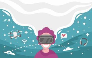 Phantasie Tech Hintergrund vektor