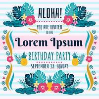 Polynesischer Geburtstag Einladung Vektor
