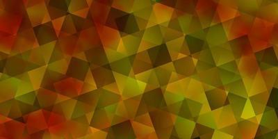mörkgul vektor layout med rektanglar, trianglar.