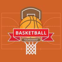 Basketball- und Basketballplatz-Grundriss.