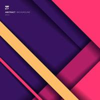 abstrakt bakgrund geometriska ränder vibrerande färg överlappande lager med skugga och utrymme för din text. vektor