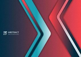 abstrakte moderne Farbverlauf lebendige Farbdreieck geometrische Überlappungsschicht auf rosa und blauem Hintergrund vektor