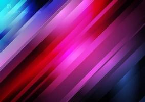 abstrakte gestreifte diagonale geometrische Linienmustertechnologie auf buntem Farbverlaufshintergrund. vektor