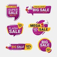 försäljning etikett samlingar specialerbjudande tag set vektor