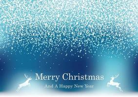 abstrakt blå julbakgrund med glitterpartiklar och textutrymme. vektor