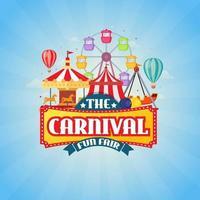 karneval kulmässa design koncept vektorillustration