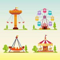 karuseller i karneval tivoli vektorillustration