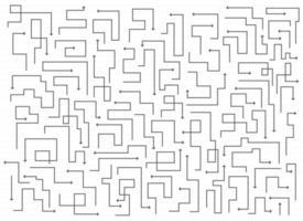 handritad pil linje uppsättning vektorillustration