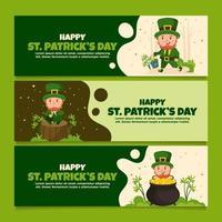 Alltag eines Kobolds während des Heiligen Patrick vektor