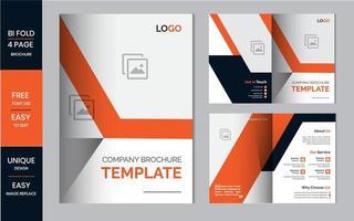 bifold broschyr mallar för företagsdesign vektor