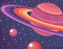 Ringar av Saturnillustration vektor