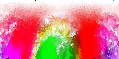 ljusrosa, grön vektor triangel mosaik bakgrund.