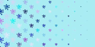 ljusrosa, blå vektor bakgrund med virussymboler