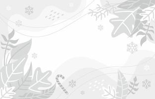 weißer Hintergrund mit Winterkonzept vektor