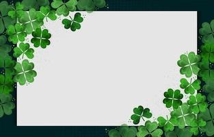Heiliger Patrick Tag Klee Hintergrund vektor