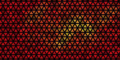ljus orange vektormall med kristaller, trianglar.