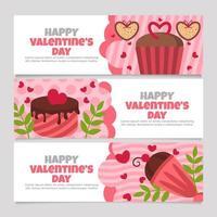 Schokoladendesserts zum Valentinstag vektor