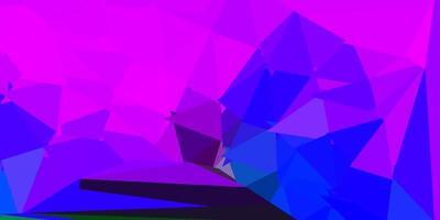mörkrosa, blå vektor triangel mosaik tapet.