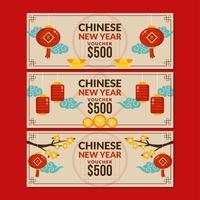 olika kinesiska nyårsmiljö vektor