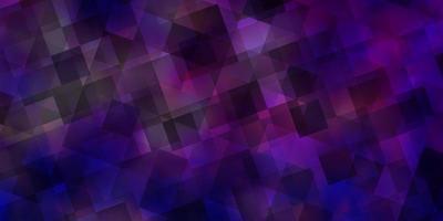 hellrosa, blauer Vektorhintergrund mit polygonalem Stil.