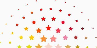 ljus flerfärgat vektormönster med abstrakta stjärnor. vektor