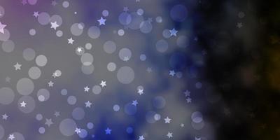 ljusrosa, grön vektorlayout med cirklar, stjärnor. vektor
