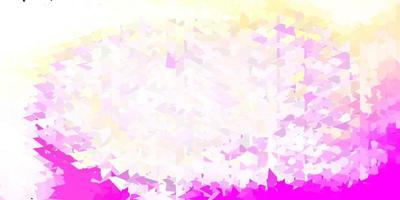 ljusrosa, gul vektorgrafikpolygontapet.