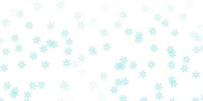 ljusblått, grönt vektorabstrakt mönster med löv.