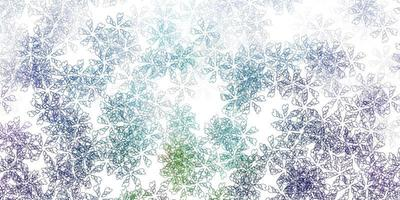 leichte mehrfarbige Vektor abstrakte Textur mit Blättern.