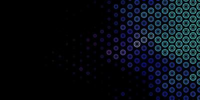 dunkelrosa, blaue Vektorbeschaffenheit mit Religionssymbolen. vektor