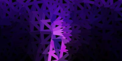 mörk lila vektor triangel mosaik mall.