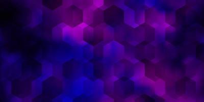 ljuslila, rosa vektorbakgrund med hexagoner. vektor