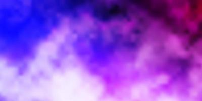 hellviolettes Vektorlayout mit Wolkenlandschaft.